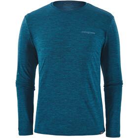 Patagonia Cap Cool Daily Graphic Long Sleeve Shirt Herre boardshort logo/big sur blue x-dye